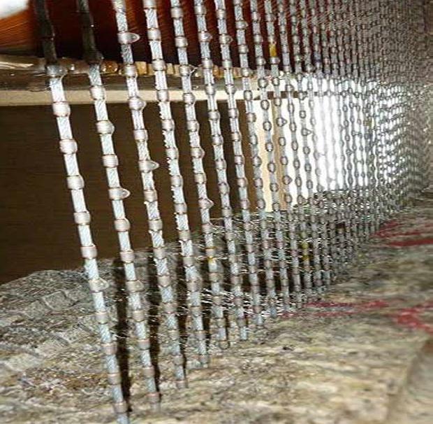 Diamond wire for multiwore machine